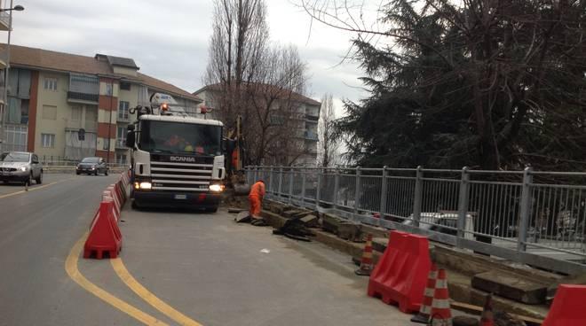 Asti: lavori in corso per ristrutturare il cavalcavia Giolitti