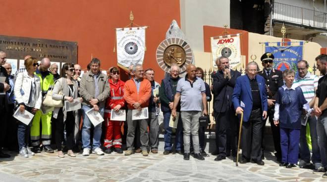 A Castello di Annone inaugurato il monumento del comitato ADMO a ricordo di Bruno Grana