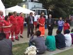 Il Vescovo Ravinale e il Sindaco Brignolo in visita al Campo profughi del Comitato Prov.le Cri