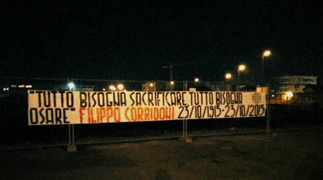 CasaPound ricorda il patriota Corridoni nel centenario della morte con striscioni ad Asti e in 80 città