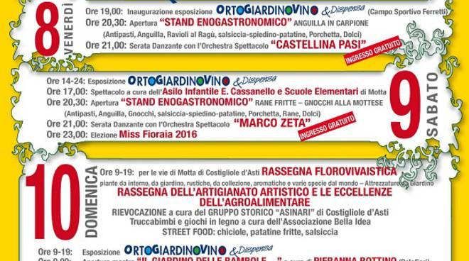 Fervono i preparativi per ''Ortogiardinovino&Dispensa'' a Motta di Costigliole d'Asti