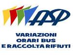 25 aprile: per Asp bus festivi e variazioni nella raccolta rifiuti