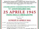 A San Martino Alfieri domani la celebrazione del 71° anniversario della Liberazione