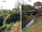 La Protezione Civile Città di Asti ha messo in sicurezza il rio Valmanera
