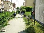 Asti, CasaPound riqualifica la zona adiacente alle Antiche Mura (foto)