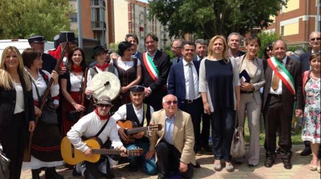 Inaugurata l'area verde Carlo Levi, festa con gli Amici della Lucania