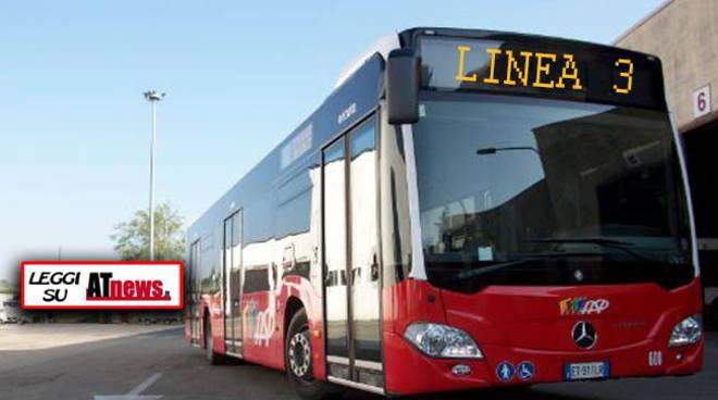 ASP: da lunedì 25 luglio i bus della linea 3 modificano il percorso in corso Alessandria
