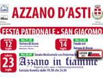 La festa del Santo Patrono di Azzano d'Asti, San Giacomo, sta per cominciare.