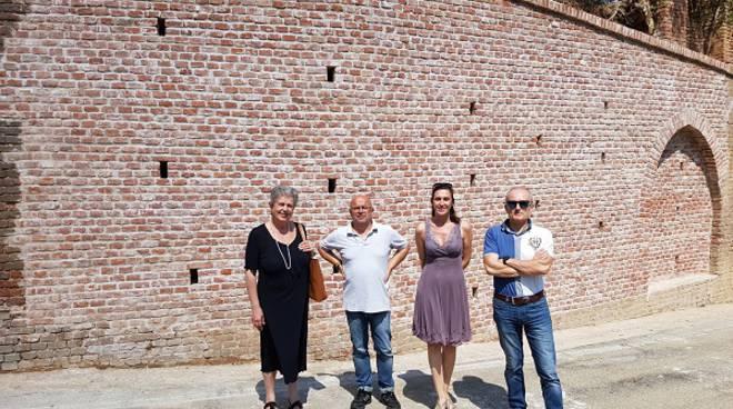 Utimati i lavori di sistemazione del muro pericolante di Bruno (foto)