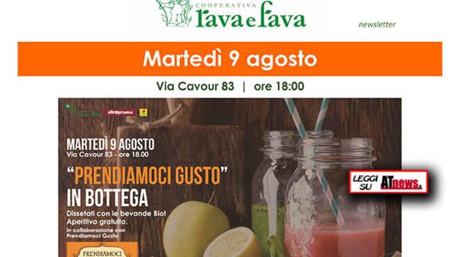 Asti, martedì 9 aperitivo gratuito con prodotti biologici alla Bottega Altromercato