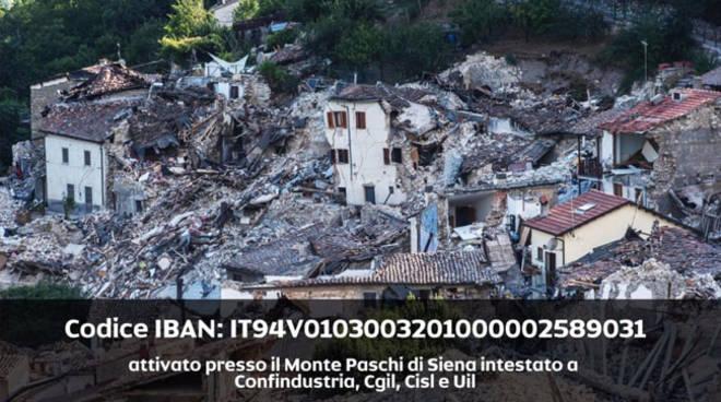 Confindustria e Cgil Cisl Uil avviano il fondo per le popolazioni colpite dal sisma del centro-Italia