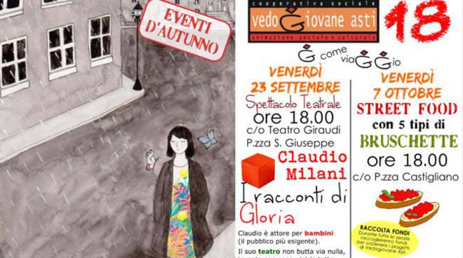 Vedogiovane di Asti riprende con uno spettacolo teatrale per bambini e famiglie a cura di Claudio Milani