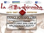 Asti, domani il concerto per i Terremotati con la Ghironda ed il Coro Laeti Cantores