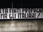 """""""Basta finti profughi, prima gli italiani"""", CasaPound contro l'hub di Castello d'Annone"""