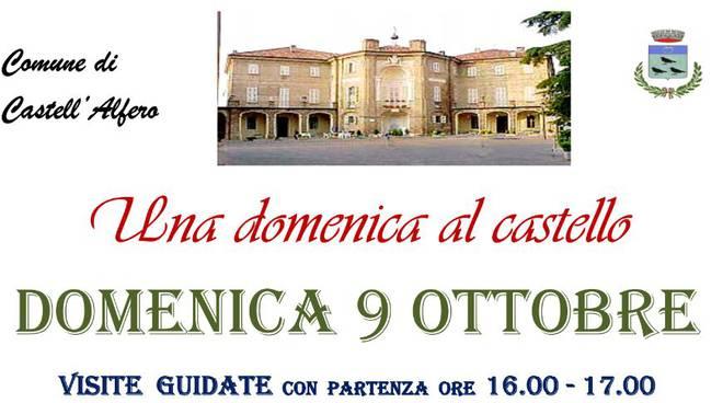 Castell'Alfero: domenica 9 ottobre sarà possibile visitare il castello
