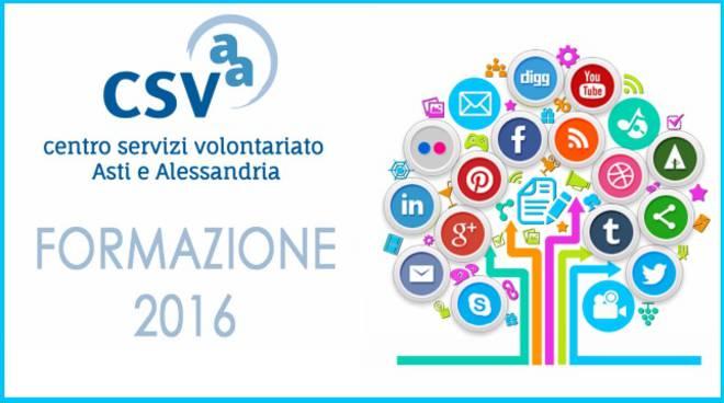 """Il CSV Asti e Alessandria organizza il Corso di formazione """"Social Network"""""""