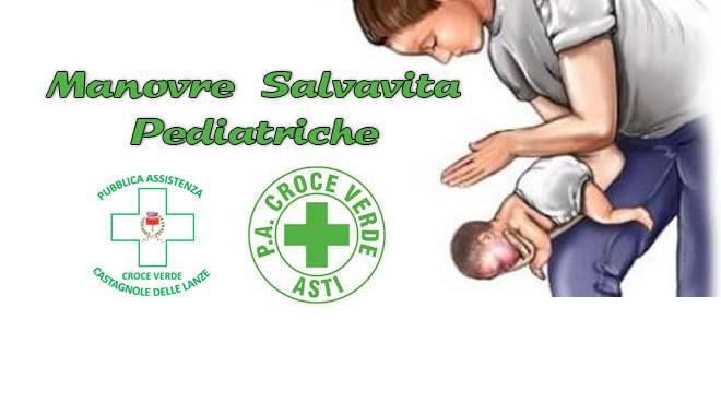 Manovre salvavita pediatriche. A Castagnole Lanze un incontro con la Croce Verde