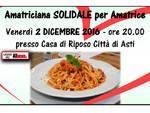 """Alla Casa di Riposo Città di Asti la cena di beneficenza """"Amatriciana per Amatrice"""""""