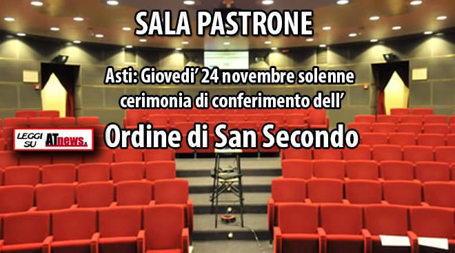 Asti: Giovedi' 24 novembre solenne cerimonia di conferimento dell'Ordine di San Secondo