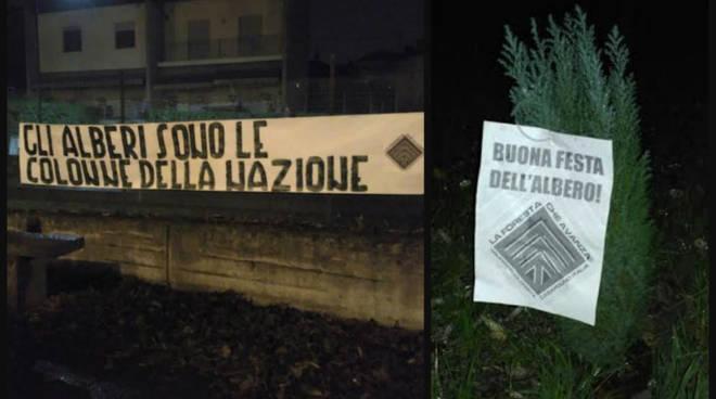 Festa dell'albero, piantati alberi ad Asti e in tutta Italia dal gruppo ecologista di CasaPound