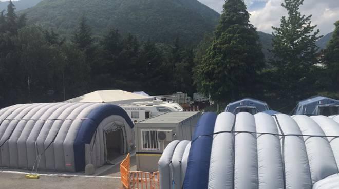 Terremoto: a Norcia il punto di assistenza socio sanitaria della Colonna Mobile del Piemonte