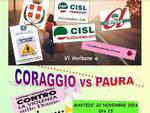 """Violenza contro le donne: il 22 novembre ad Asti """"Coraggio VS Paura"""""""