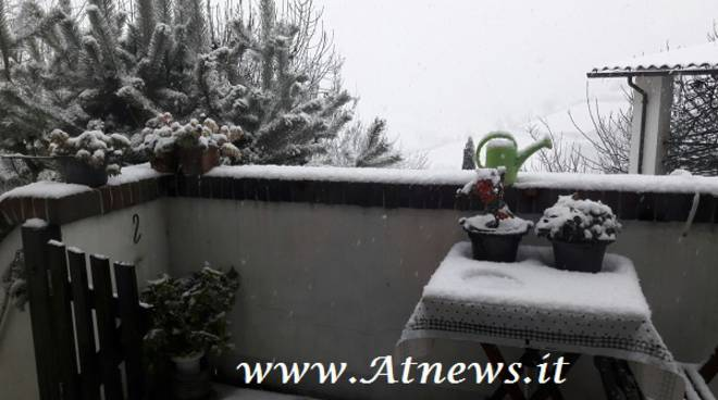 Arrivata la prima neve di stagione sull'astigiano