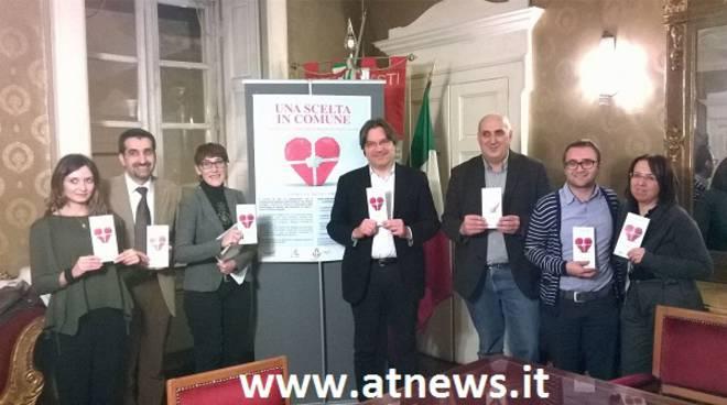 """Asti, presentata la campagna di sensibilizzazione """"Una scelta in Comune"""" per la donazione degli organi"""