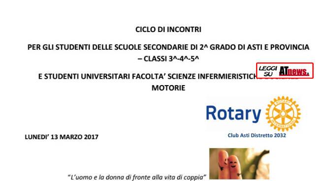 Asti, la scuola chiama ed il Rotary risponde, con Medicina Amica