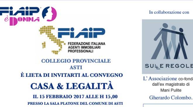 Asti, mercoledì convegno su casa e legalità con l'associazione di Gherardo Colombo