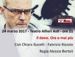 AIDO: al Teatro Alfieri di asti uno spettacolo teatrale per parlare del valore del dono