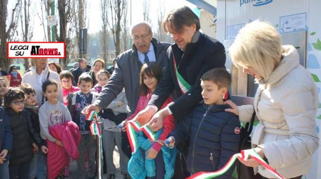 ASP Asti, inaugurato il nuovo Punto Acqua corso Alba