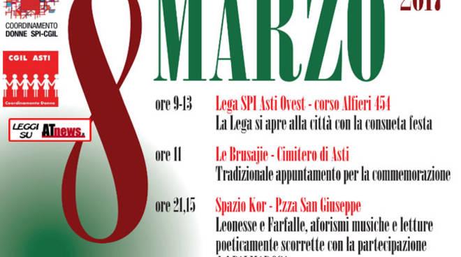 Asti, le iniziative delle Donne SPI-CGIL in occasione dell'8 marzo