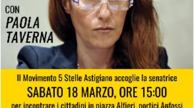 Asti, M5S: incontro pubblico con la senatrice Paola Taverna