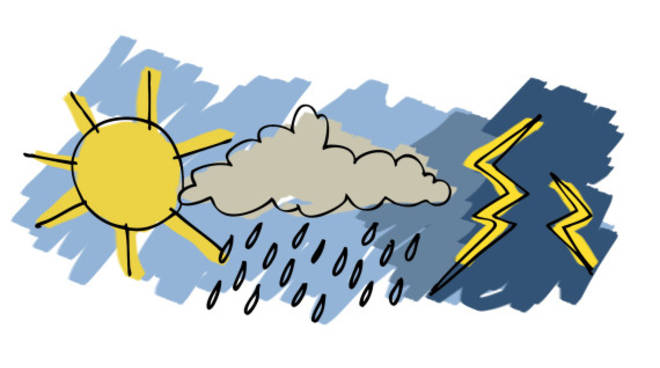 Meteo, in arrivo piogge, ma da mercoledì torna il sole