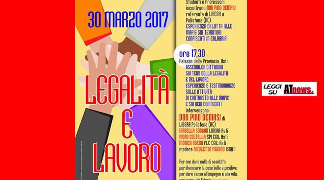 Legalità e Lavoro: giornata di approfondimento ad Asti promossa da Libera e SPIAsti