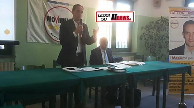 Asti, oggi nuovo incontro del Movimento 5 Stelle con il candidato sindaco Massimo Cerruti