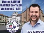 Matteo Salvini ad Asti per inaugurare la nuova sede elettorale della Lega Nord