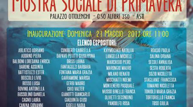 Asti, Mostra Sociale di Primavera a Palazzo Ottolenghi