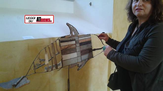 "Asti, visita al buio alla mostra ""Cetacea"" di Sergio Brumana"