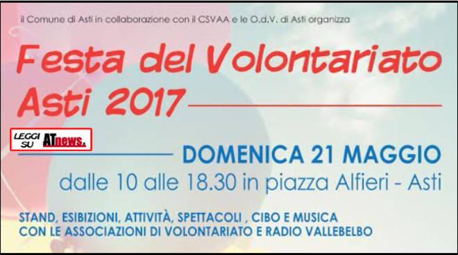 CSVAA: domani ad Asti il volontariato in festa