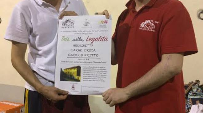 Raccolta fondi per Cascina Graziella a Moncalvo con il Tris della Legalità