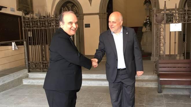 Alba: il Sindaco Maurizio Marello ha accolto in Comune il Vescovo