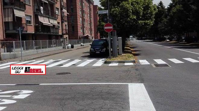 Asti, iniziato il rifacimento delle strisce stradali