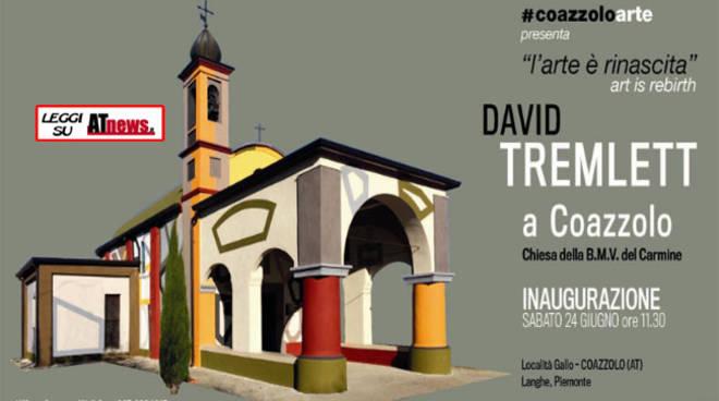 Domani l'inaugurazione del wall drawing della Chiesetta di Coazzolo