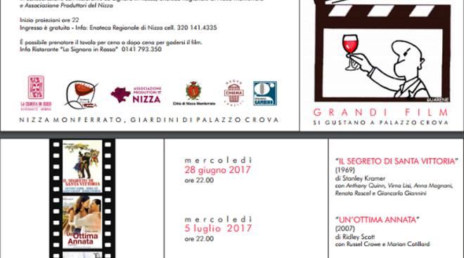 Nizza Monferrato, i grandi film si gustano a Palazzo Crova