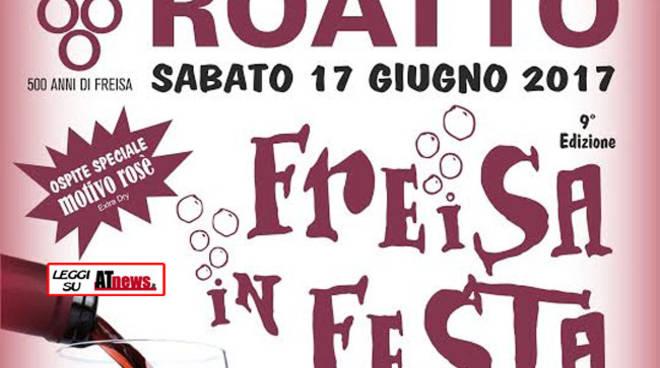 Roatto, sabato 17 giugno la Freisa è in Festa