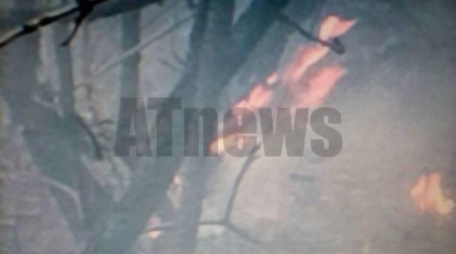 Incendio Serravalle d'Asti