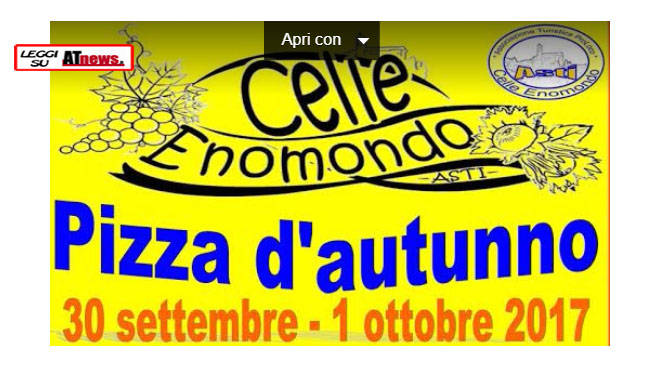 pizza d'autunno 2017