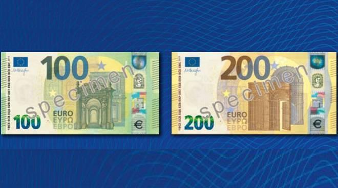 7b31aeea55 Arrivano le nuove banconote da 100 e 200 euro: ora staranno nel ...